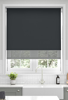 Rimini (Blackout), Black & Optima Alto - Double Roller Blind