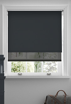 Rimini (Blackout), Black & Optima Black - Double Roller Blind