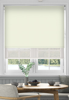 Rimini (Blackout), Cream & Illusion Sandy - Double Roller Blind