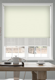 Rimini (Blackout), Cream & Optima Chiffon - Double Roller Blind