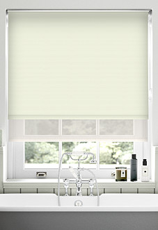 Rimini (Blackout), Cream & Shimmer Barley - Double Roller Blind