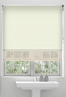 Rimini (Blackout), Cream & Shimmer Cream - Double Roller Blind