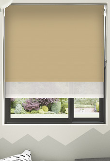 Rimini (Blackout), Mocha & Illusion Sandy - Double Roller Blind