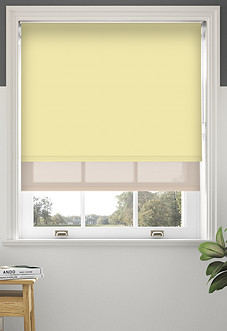 Rimini (Blackout), Sand & Optima Lustre - Double Roller Blind