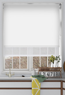 Rimini (Blackout), White & Illusion Pure - Double Roller Blind
