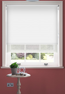 Rimini (Blackout), White & Optima Chiffon - Double Roller Blind