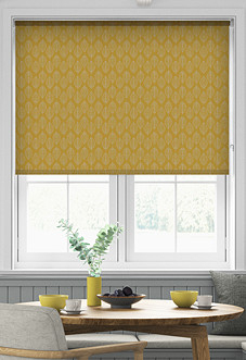 Beech Leaf (Blackout), Sunshine - Motorised Roller Blind