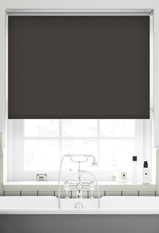 Energy Saving (Blackout), Dark Mahogany - Motorised Roller Blind