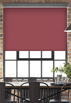 Energy Saving (Blackout), Red - Motorised Roller Blind