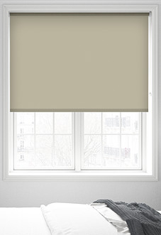 Origin (Blackout), Oyster Grey - Motorised Roller Blind