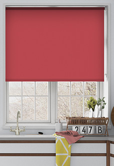 Palermo (Blackout), Cerise - Motorised Roller Blind
