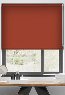 Palermo (Blackout), Crimson - Motorised Roller Blind