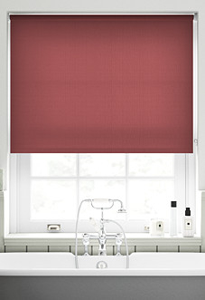 Roma, Scarlet - Motorised Roller Blind