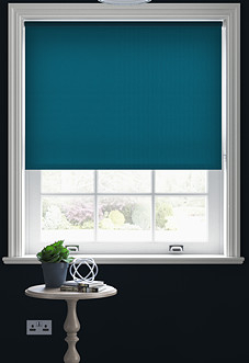 Roma, Teal - Motorised Roller Blind