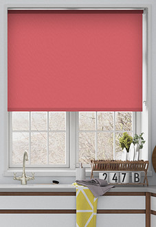 Trinity (Blackout), Coral - Motorised Roller Blind