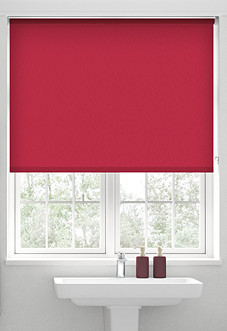 Trinity (Blackout), Poppy Red - Motorised Roller Blind