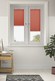 Honeycomb, Scarlet - Perfect Fit Blind