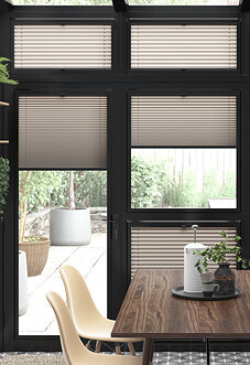 Pleated (Blackout), Champagne - Perfect Fit Blind