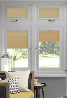 Pleated, Golden - Perfect Fit Blind
