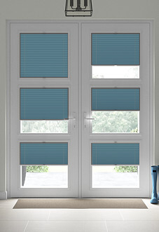 Pleated, Stone Blue - Perfect Fit Blind