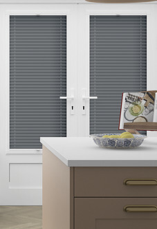 Pleated, Tangoroa Grey - Perfect Fit Blind