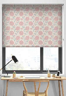 Delicia, Powder Pink - Roller Blind