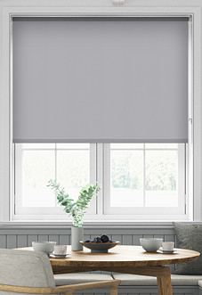 Desert Floor (Blackout), Pale Grey - Roller Blind