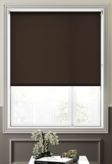 Hush (Blackout Sound Barrier), Chocolate - Roller Blind