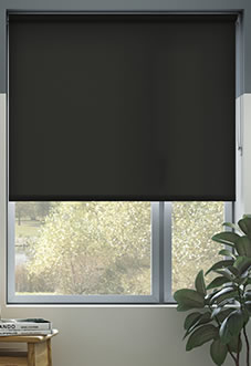 Hush (Blackout Sound Barrier), Ebony - Roller Blind