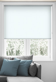 Palermo (Blackout), White - Roller Blind