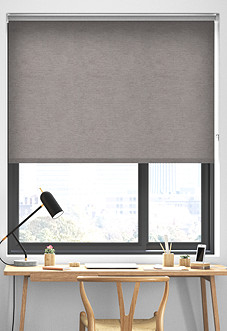 Plush (Blackout), Light Grey - Roller Blind