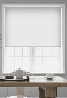 Rimini (Blackout), White - Roller Blind