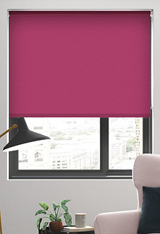 Trinity (Blackout), Fuschia - Roller Blind