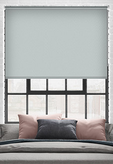 Trinity (Blackout), Light Grey - Roller Blind
