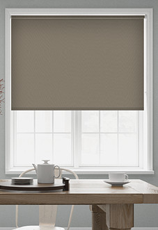 Trinity (Blackout), Pewter - Roller Blind