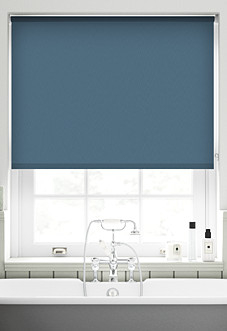Trinity (Blackout), Steel Blue - Roller Blind