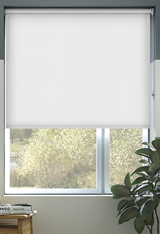 Trinity (Blackout), White - Roller Blind