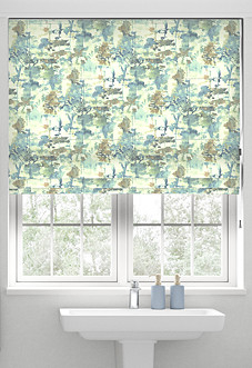 Al Fresco, Slate Blue - Roman Blind