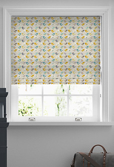 Birds, Ochre - Roman Blind