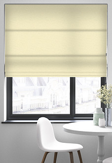 Faux Silk, Natural - Roman Blind
