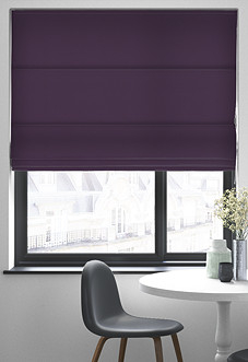 Faux Suede, Purple - Roman Blind