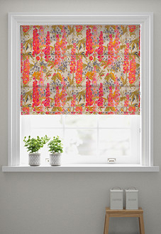 Hollihocks, Candy - Roman Blind