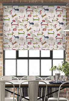Oh My Deer, Berry - Roman Blind