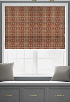 Pavillion, Burnt Orange - Roman Blind