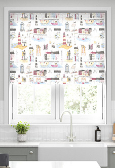 Seaside, Vintage - Roman Blind