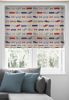 VW Campervan, Blue - Roman Blind
