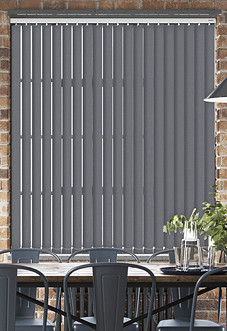 Desert Floor (Blackout), Charcoal - Vertical Blind