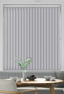 Desert Floor (Blackout), Pale Grey - Vertical Blind