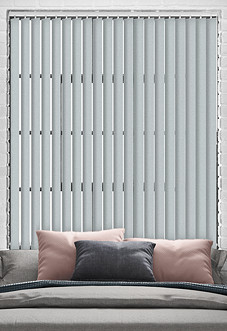 Jasmine (Blackout), Silver - Vertical Blind