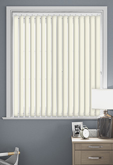 Palermo (Blackout), Cream - Vertical Blind